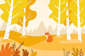 가을 풍경 일러스트 07