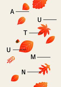 가을 나뭇잎 벡터 일러스트레이션 06