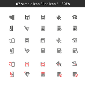 07 sample icon line icon - 30EA