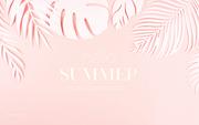 종이 야자수잎, 종이컨셉의 여름배경_026