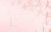 종이 야자수잎, 종이컨셉의 여름배경_045