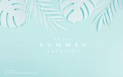 종이 야자수잎, 종이컨셉의 여름배경_013