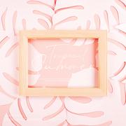 종이 야자수잎, 종이컨셉의 여름배경_022