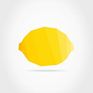 Yellow lemon on a grey background