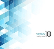 Abstract blue cubes vector background. EPS 10