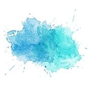 Blue Watercolor splatters. Vector illustration. EPS 10. Blue Watercolor splatters. Vector