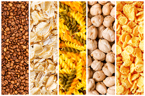 Selection of various food backgrounds