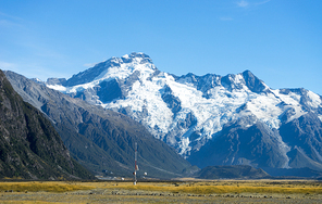 Beautiful natural landscape of mountains of New Zealand