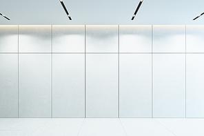 modern white interior, empty room, 3d rendering