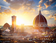 View on Florence and Basilica of Saint Mary of the Flower, Italy