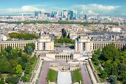La Defense modern buildings in Paris, France