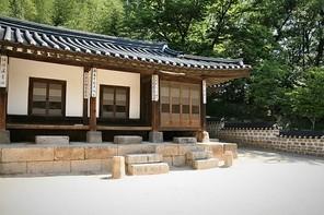 한국 전통 한옥의 풍경