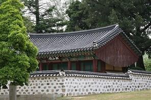 한국의 전통 한옥 배경