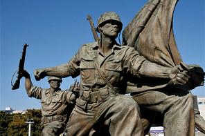 용산 전쟁기념관 6.25전쟁 기념 동상