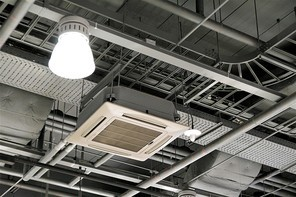 천장 배관 및 조명 인테리어