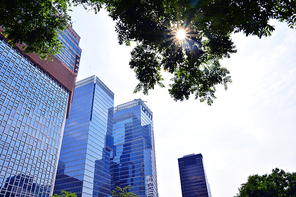 서울의 도심 한복판에 금융가,증권가,오피스텔,대기업,은행 등 첨단 초고층 빌딩들이 랜드마크와 스카이라인을 이루고있는 세련된 현대도시 이미지