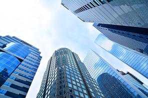 서울시내 중심가에 증권사,대기업,금융회사,오피스텔,글로벌기업 등이 한데 모여있는 서울의 대표적인 고층빌딩 랜드마크 풍경