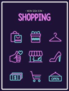 쇼핑 - 네온사인 아이콘4