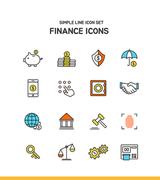 심플라인 아이콘 금융 5