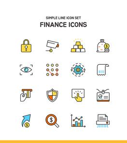 심플라인 아이콘 금융 6