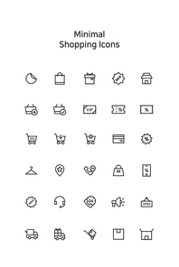 미니멀 쇼핑 아이콘 5