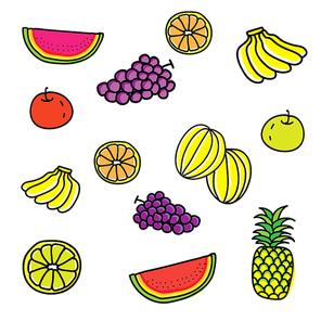 손그림 과일 일러스트 모음