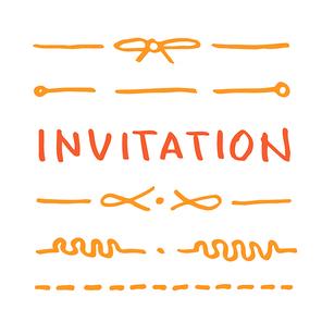 초대장 꾸밈 라인 캘리그라피
