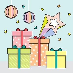 기프트 이벤트 선물 상자 일러스트