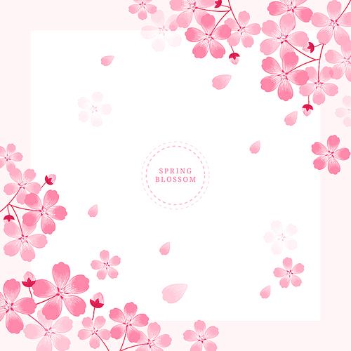 봄꽃 일러스트 Spring blossom 01