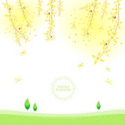 봄꽃 일러스트 Spring blossom 06