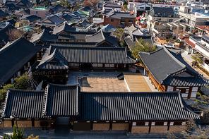 한국 전통의 가옥이 잘 보존된 한옥마을