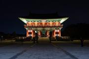 아름다운 월정교 누각의 웅장하고 화려한 야경