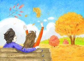 가을 일러스트