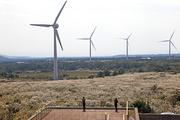 풍력발전단지와 전망대