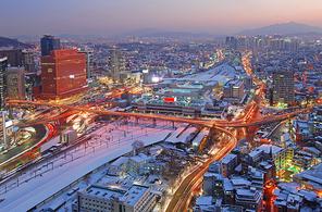 서울역앞 야경