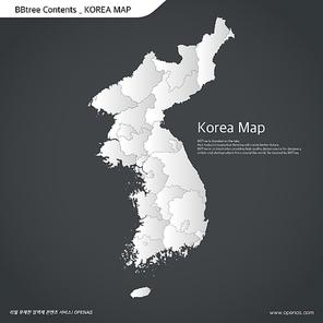 Korea map 09