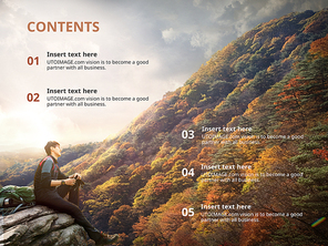 파워포인트 배경 (스포츠) 가을 등산