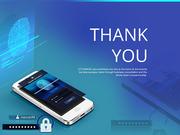 파워포인트 배경 (보안) 지문인식 시스템