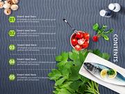 파워포인트 배경 (음식) 웰빙 밥상