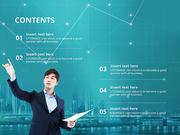 파워포인트 배경 (비즈니스) 차트와 업무