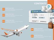 파워포인트 배경 (여행) 해외 항공권