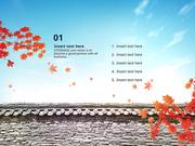 파워포인트 배경 (전통문화) 청명한 가을 하늘과 추석