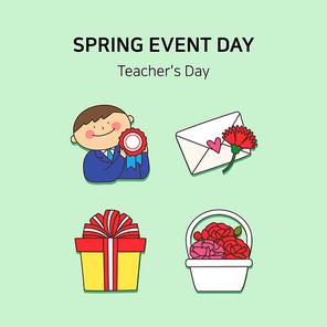봄기념일아이콘 012