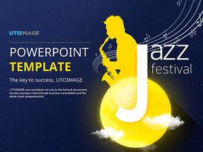 파워포인트 배경 (예술) 가을 재즈 페스티벌