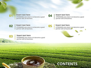 파워포인트 배경 (식품) 맑은 자연과 녹차