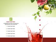 파워포인트 배경 (음식) 건강 석류식초
