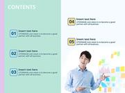 파워포인트 배경 (비즈니스) 차트를 설명하는 회사원