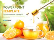 파워포인트 배경 (음식) 신선 꿀 귤차