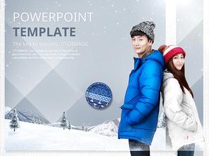 파워포인트 배경 (여행) 커플 겨울 여행