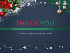 파워포인트 배경 (이벤트) 눈과 크리스마스 장식